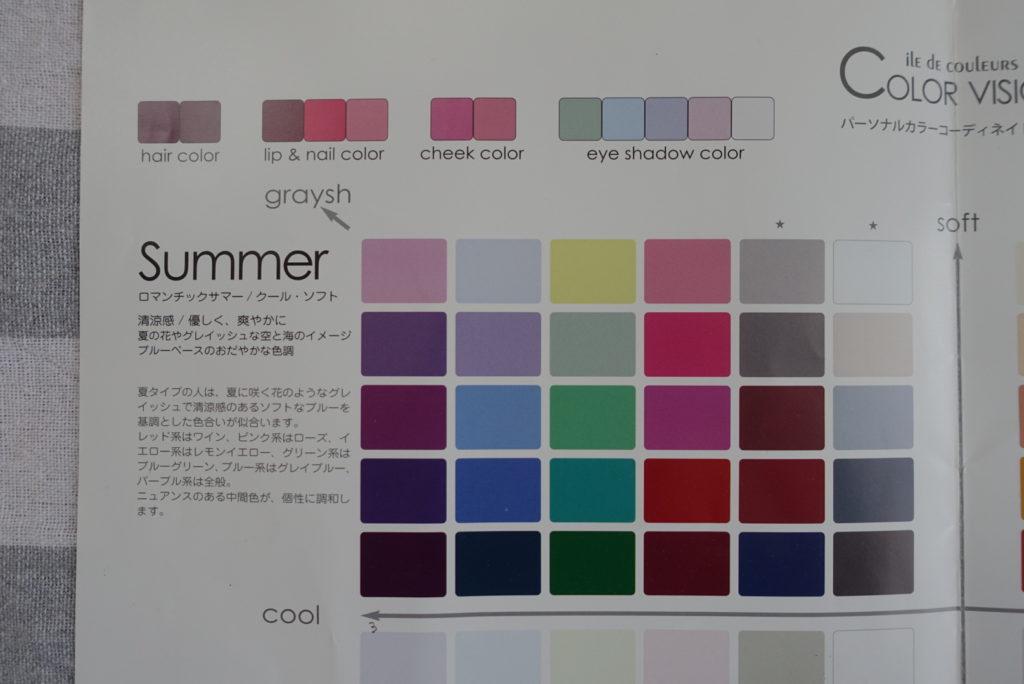 パーソナルカラー診断summer夏