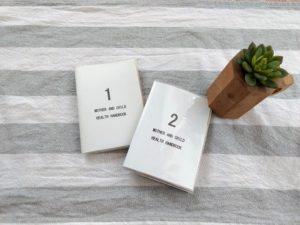 母子手帳カバーの表紙を手作りダウンロード